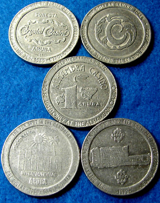 Dollar slot machine tokens